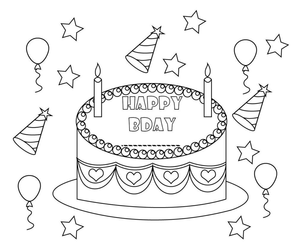 - Personalized Happy Birthday Coloring Pages To Print
