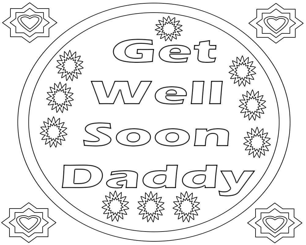 - Get Well Soon Coloring Pages