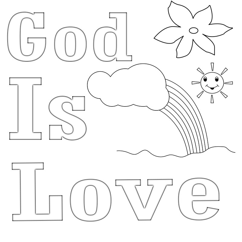 Top God Is Love Coloring Pages And Show Your Love