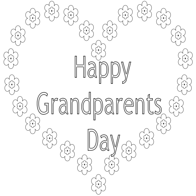 Grandparents Day Coloring Pages - Doodle Art Alley | 800x800