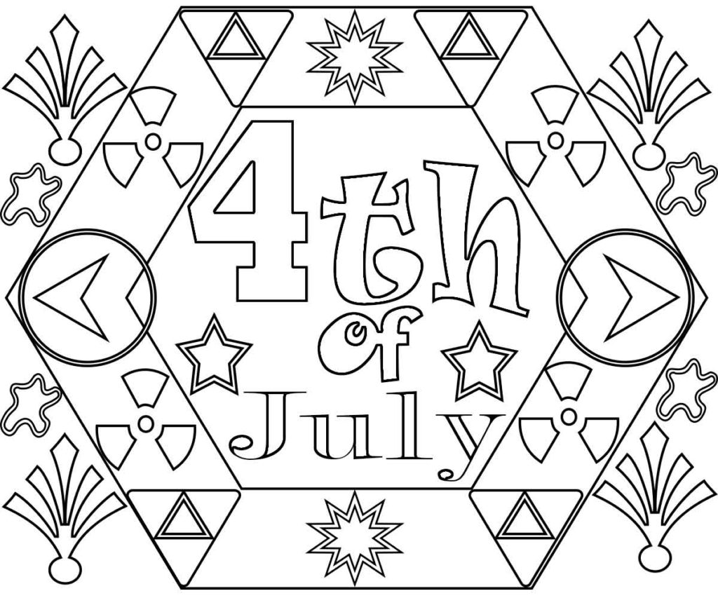 free printable 4th of july coloring pages for adults | 4th Of July Coloring Pages Free