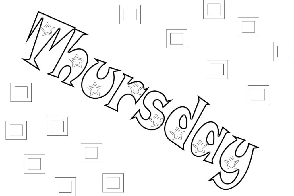 days of the week coloring page - best days of the week coloring pages and pictures