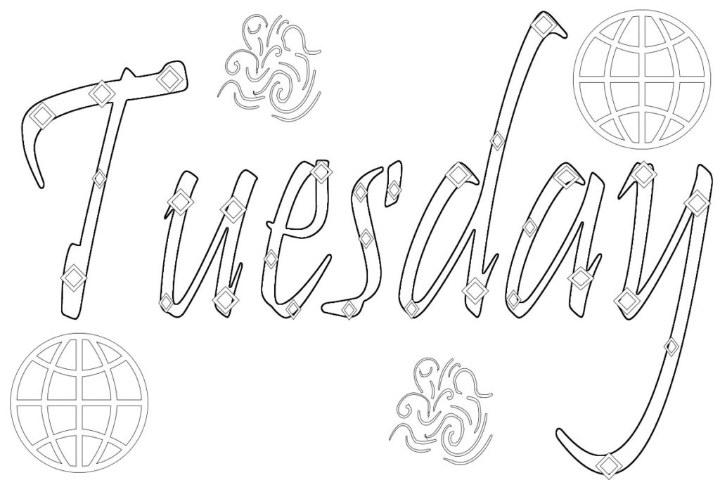 Hebrew Days Of The Week Printable Coloring Pages Coloring ...