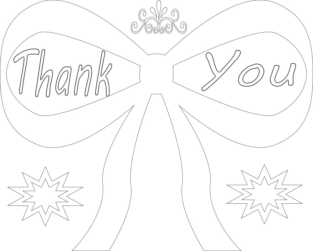 Free Thank You Coloring Pages Printable