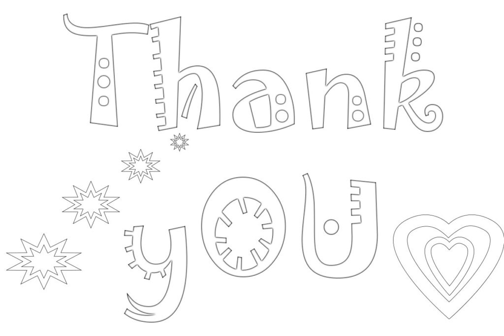 Free Printable Coloring Pages For Kids And Adults: Printable Thank You  Coloring Pages