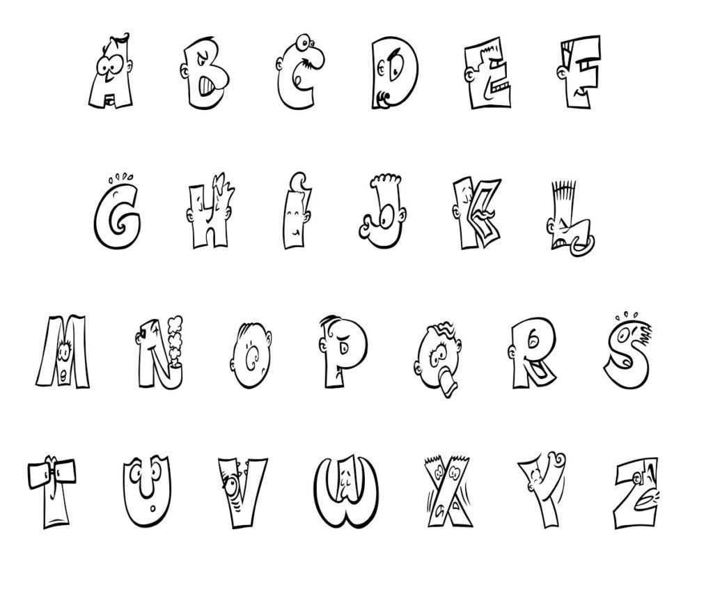 Alphabet (abc) Coloring Pages For Kids