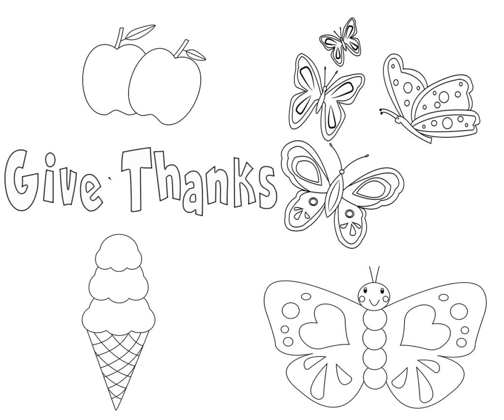 Give Thanks Coloring Pages
