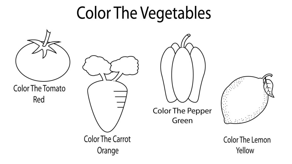 Vegetable Coloring Pages For Preschoolers, Toddlers