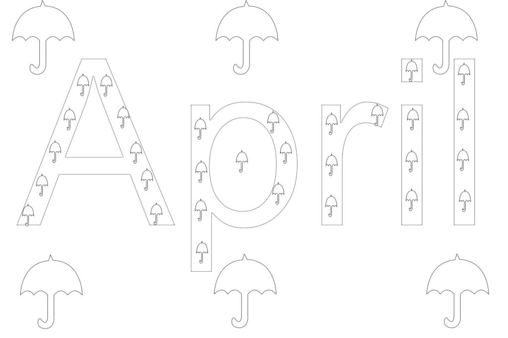 month of april coloring pages | Free Printable 12 Months Of The Year Coloring Pages