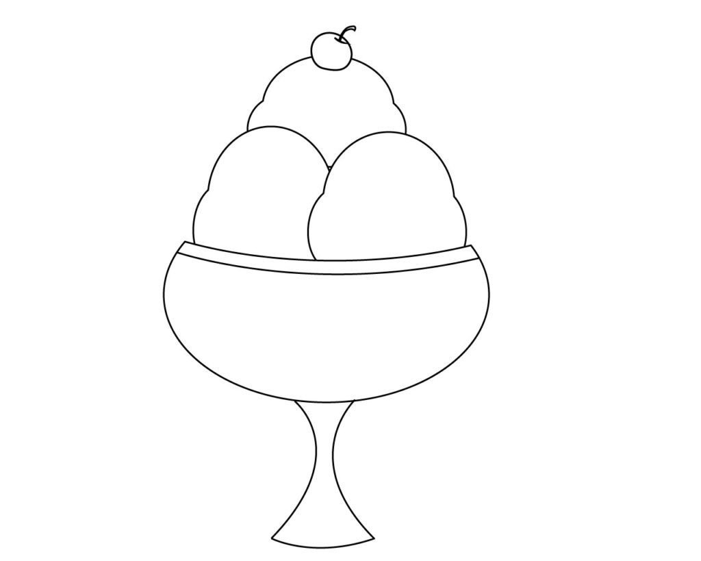 Coloring Pages For Ice Cream Cup