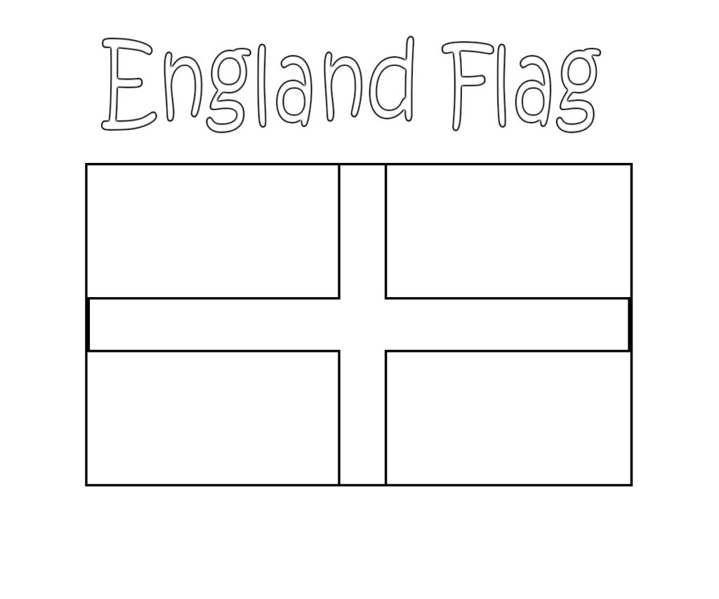- English, Britain, UK And England Flag Coloring Pages Free