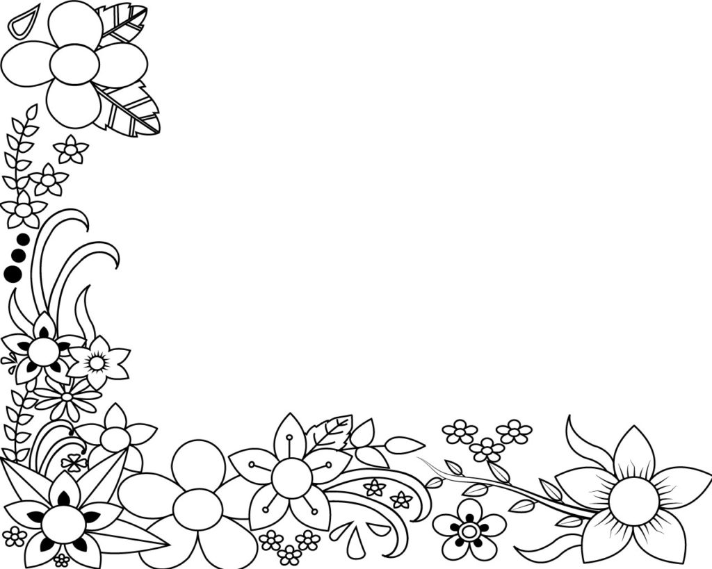 Oval Flower Borders Coloring Pages Coloring Pages