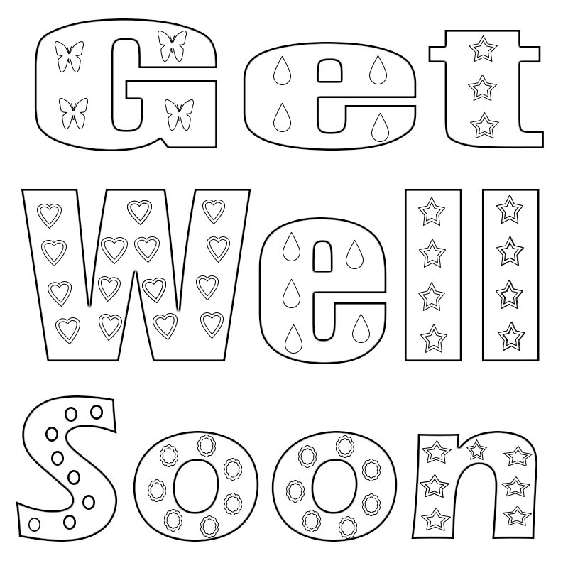 photograph about Get Well Soon Printable known as Purchase Properly Shortly Coloring Web pages
