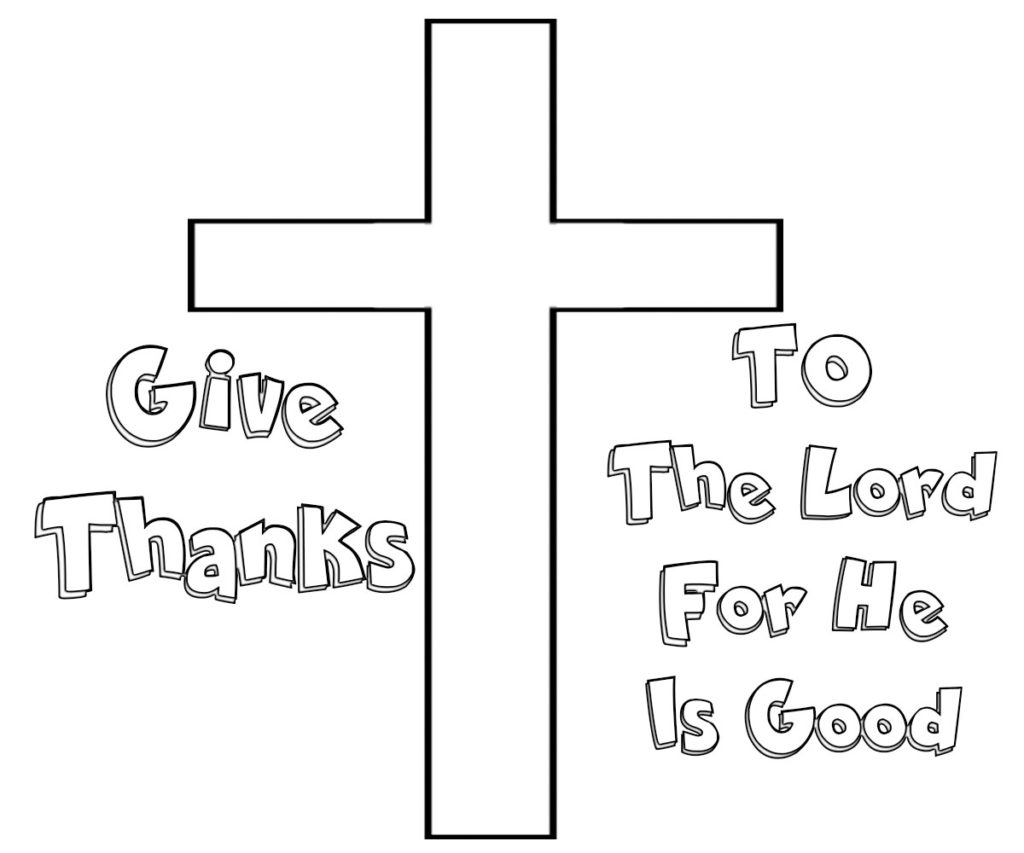 Give Thanks Coloring Sheets To The Lord Page
