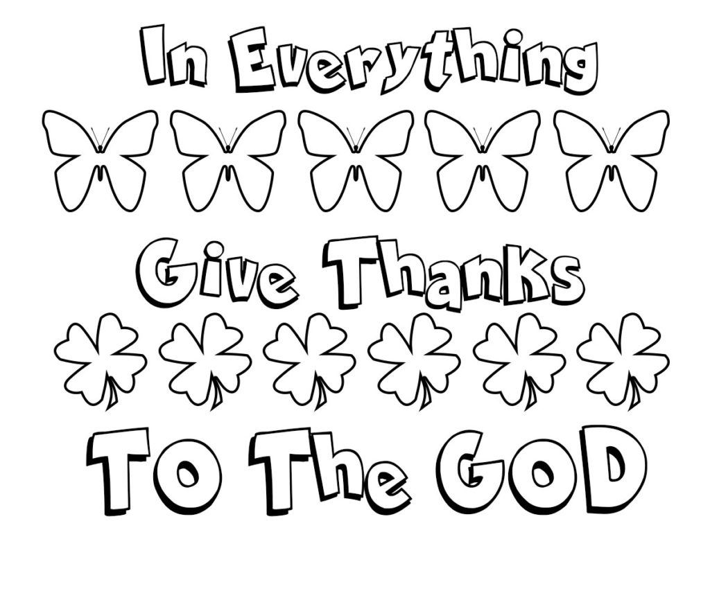 Giving Thanks Bible Coloring Pages