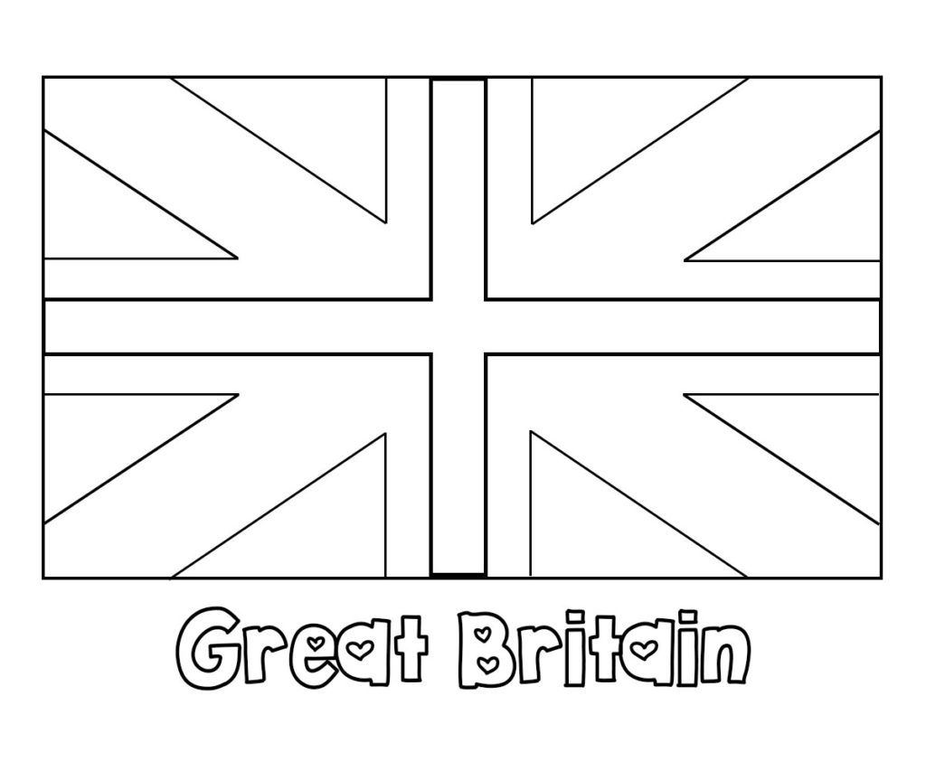 English Britain Uk And England Flag Coloring Pages Free