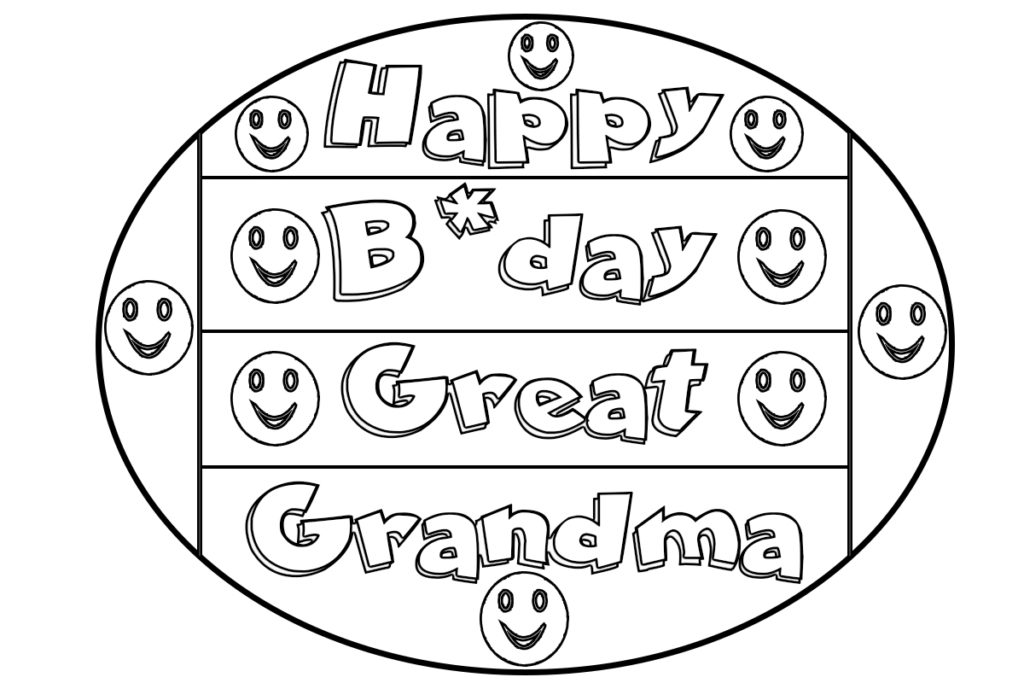 free birthday coloring pages grandmother - photo#33