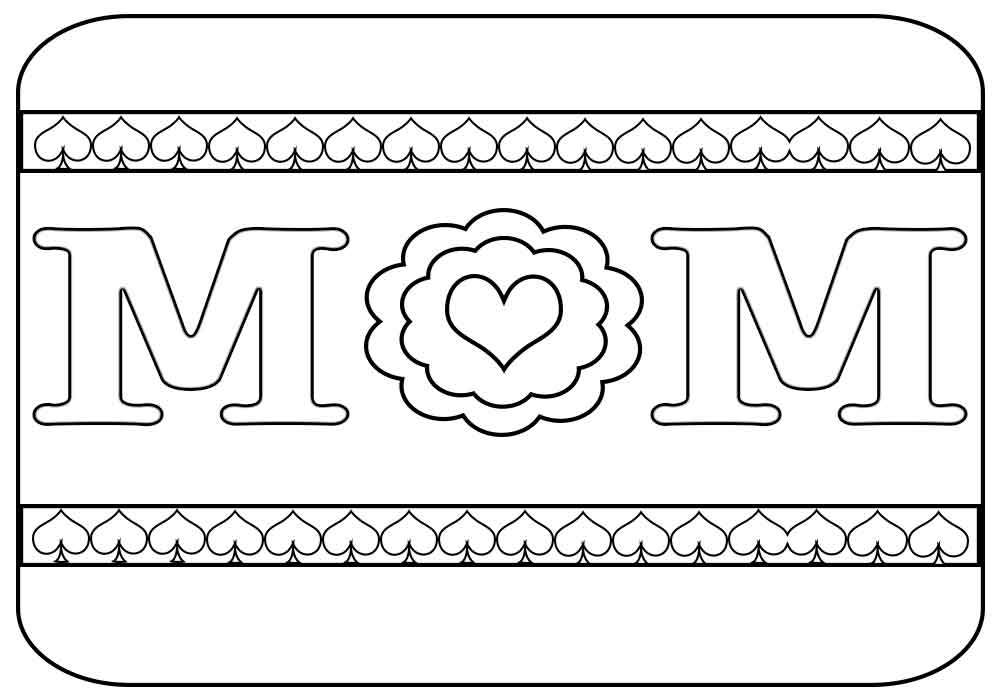 I Love You Mom And Dad Coloring Pages