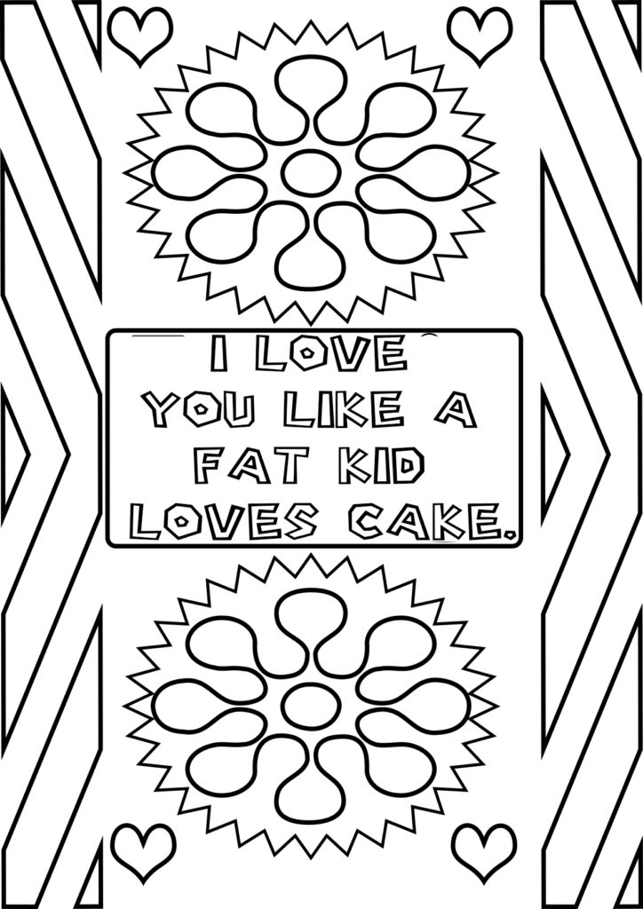 Free Love Quotes Coloring Pages I You