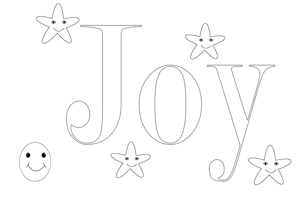 Joy Coloring Pages Free To Print And Download