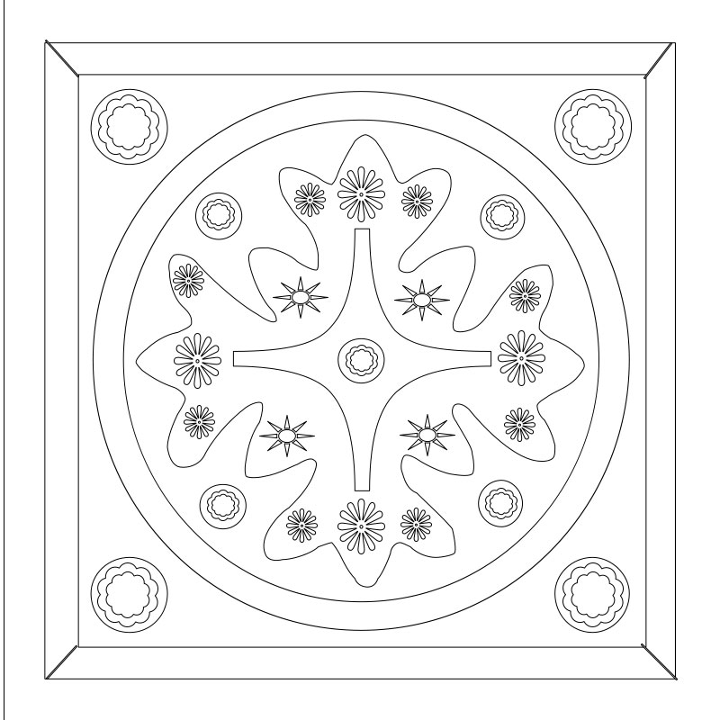 Classic 12 Square Coloring Pages Printable For Free