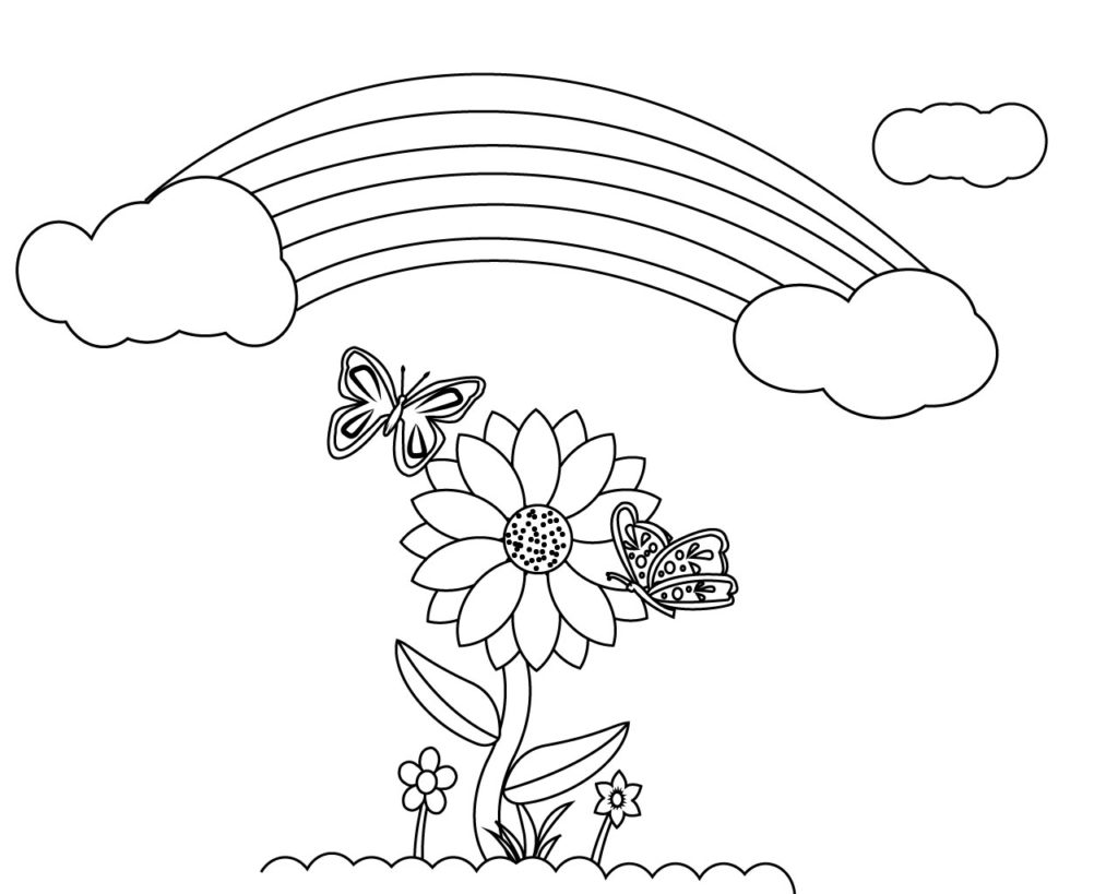 Sunflower Coloring Pages To Print