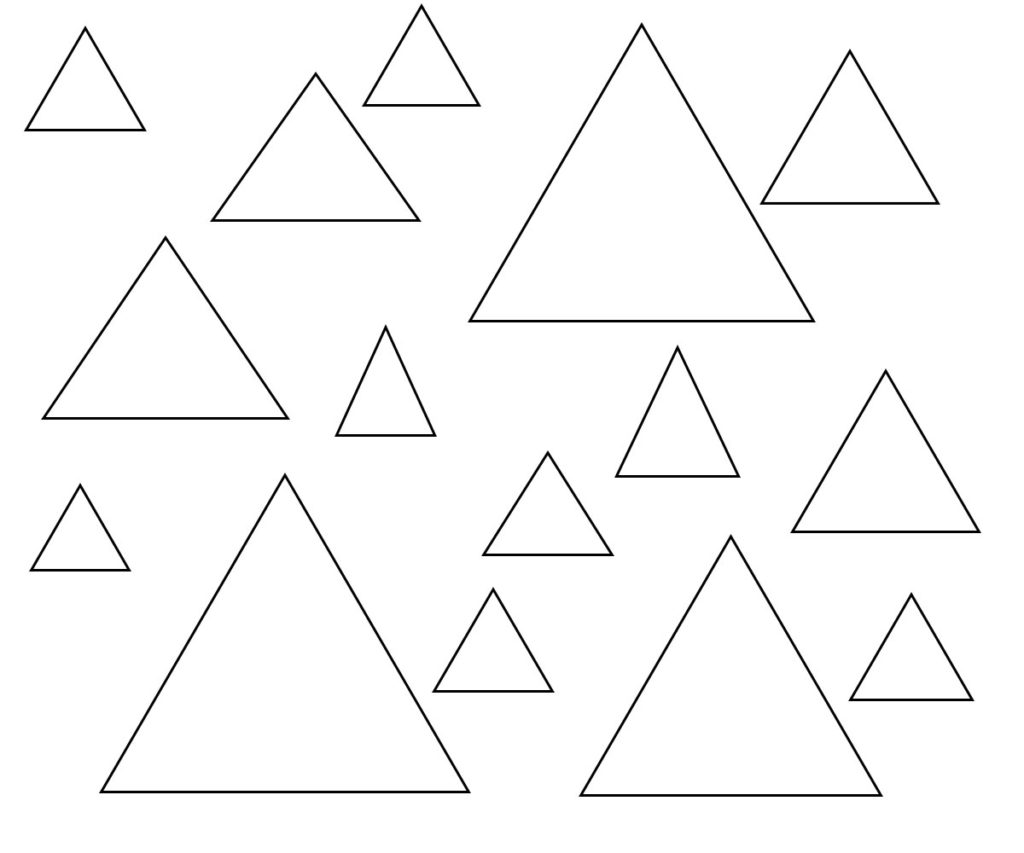 Triangle Coloring Pages For Adults Preschoolers