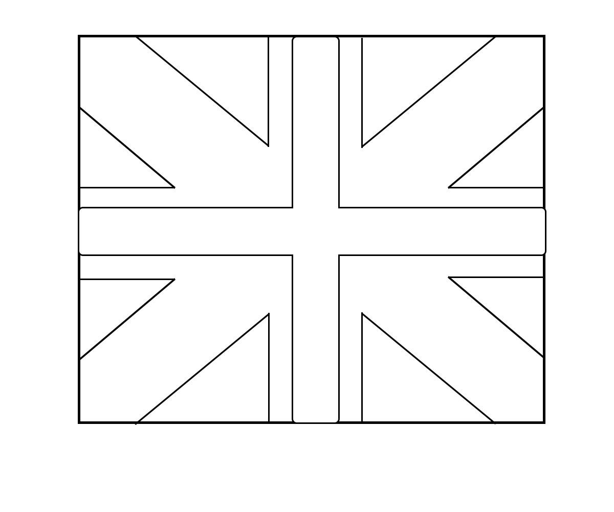 Wales Flagge Zum Ausmalen