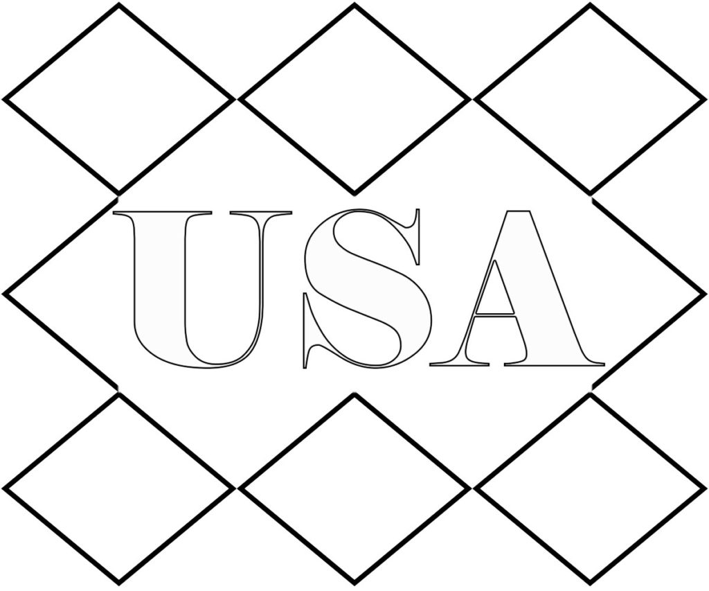 I Love USA Coloring Pages For Preschool