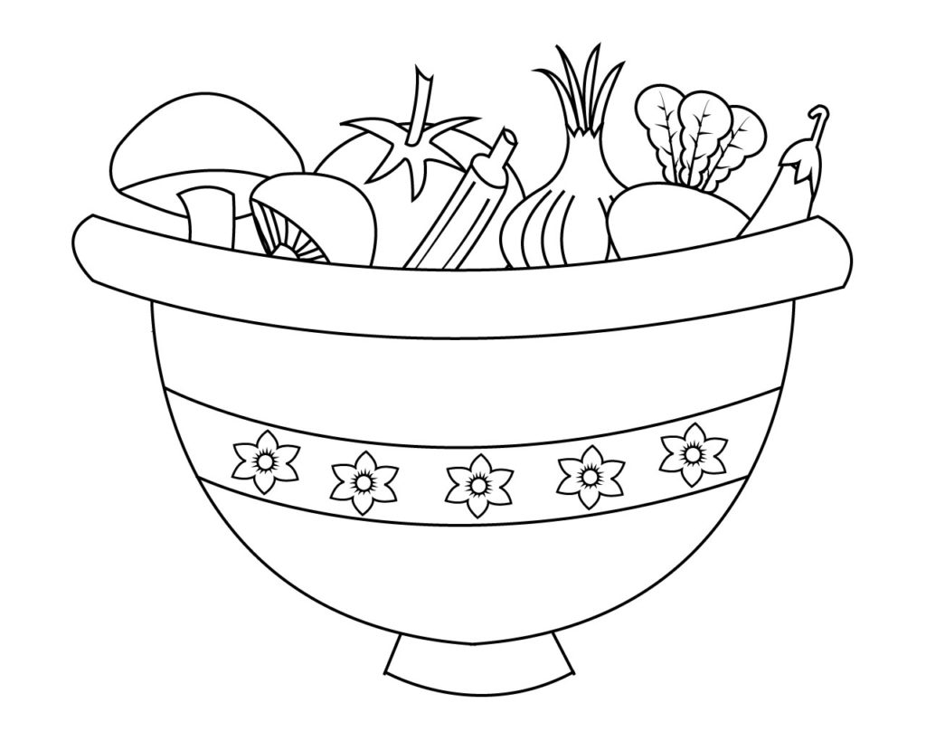 Vegetable Coloring Pages For Preschoolers