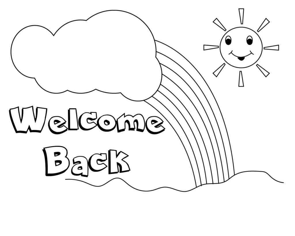 Welcome back coloring pages for Welcome back coloring pages