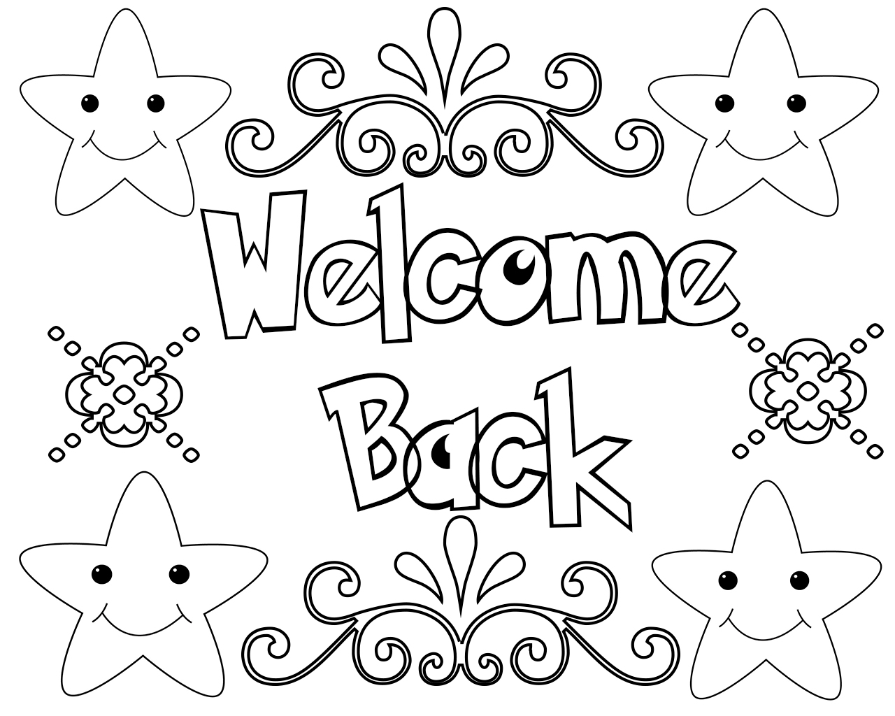 Welcome Back Coloring Pages