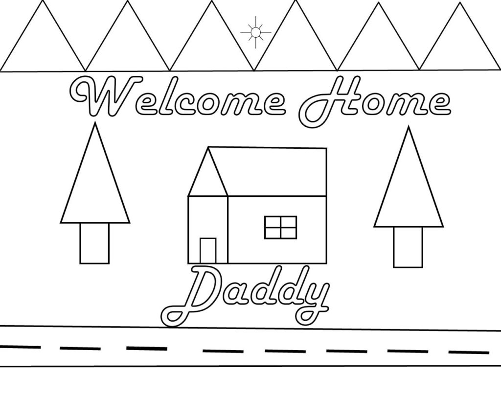 welcome home dad coloring pages - photo#6