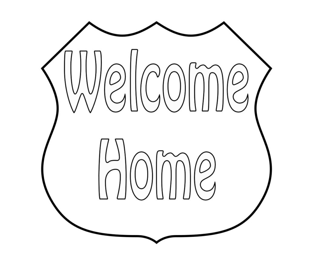 welcome sign coloring pages - photo#18