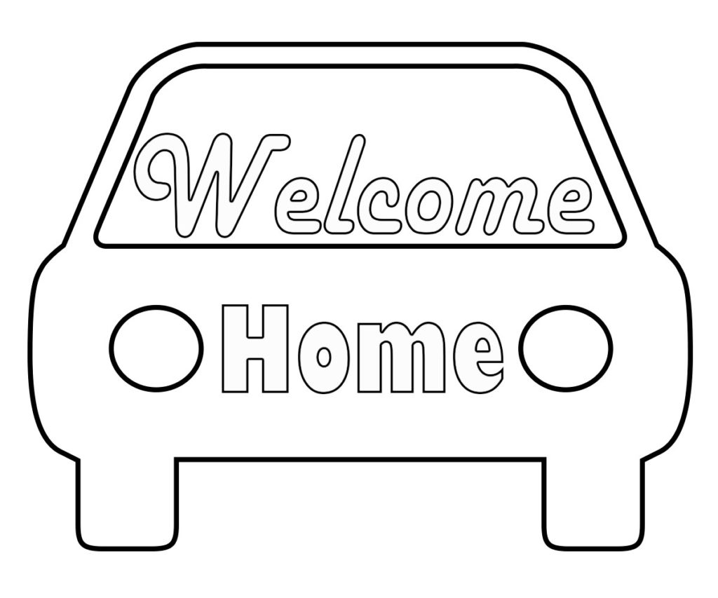 welcome sign coloring pages - photo#29