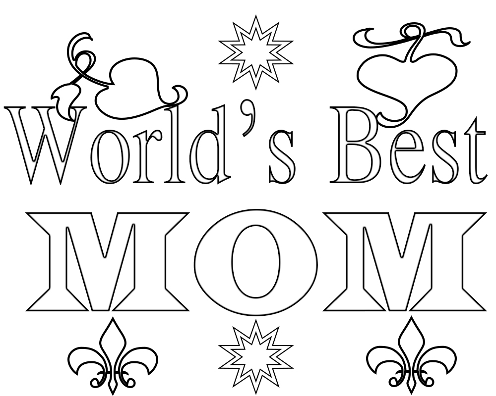World's Best Mom Coloring Pages