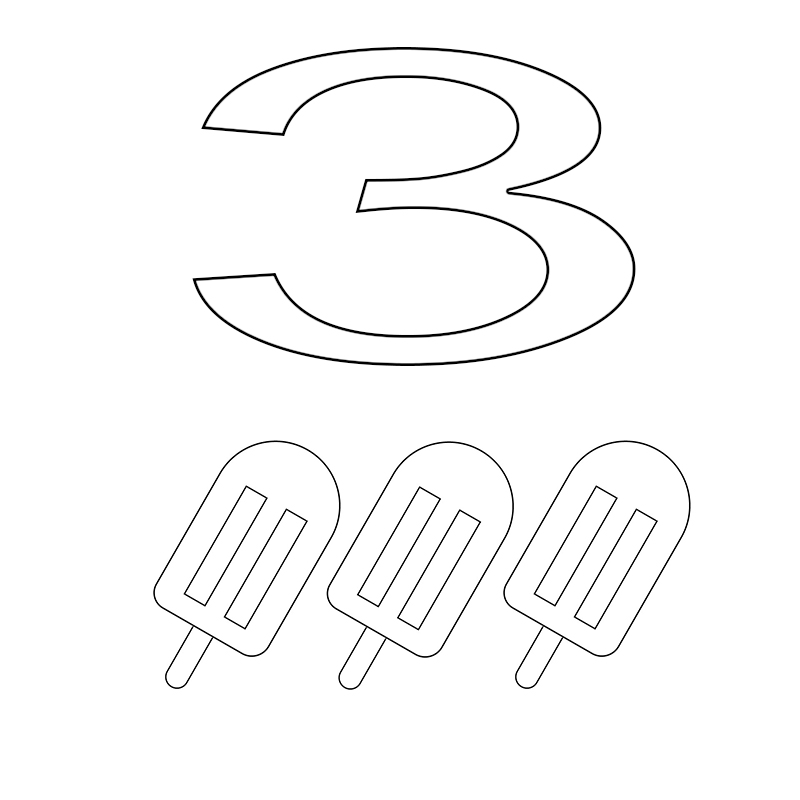 Free Number 3 Coloring Pages Download,for Toddlers,Adding 3 Numbers ...