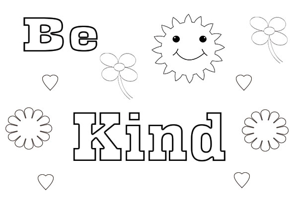 Amazing be kind coloring page, I Can Be,printable , Have ...