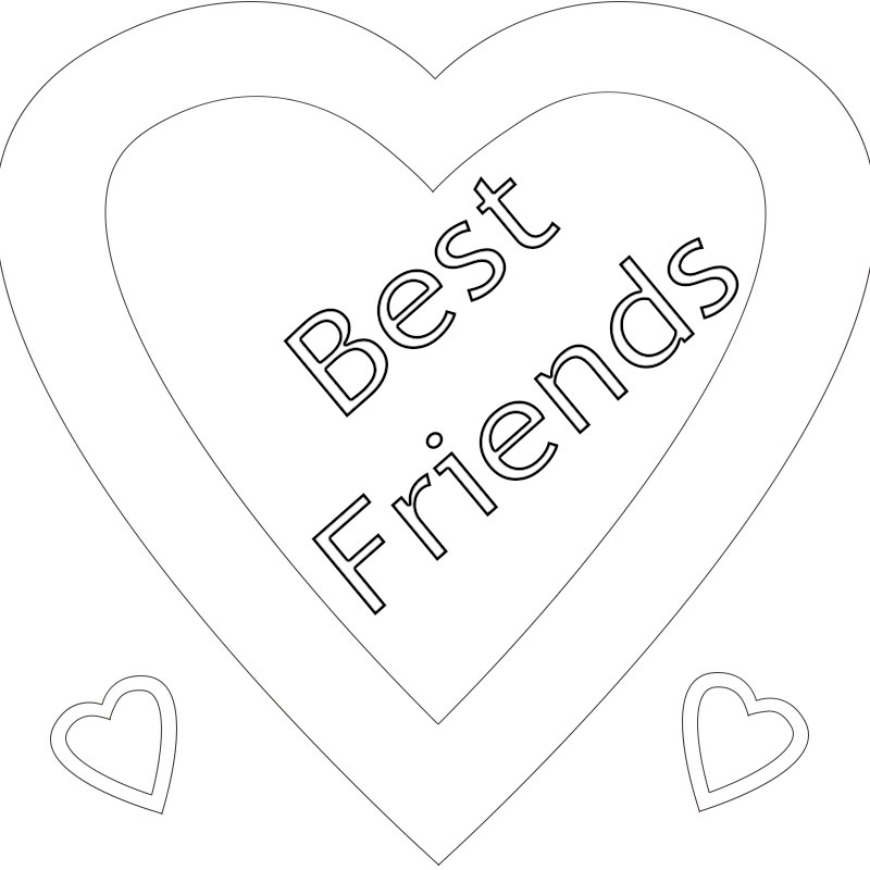 Printable Best Friend Coloring Pages Printable Best Friend Coloring ...