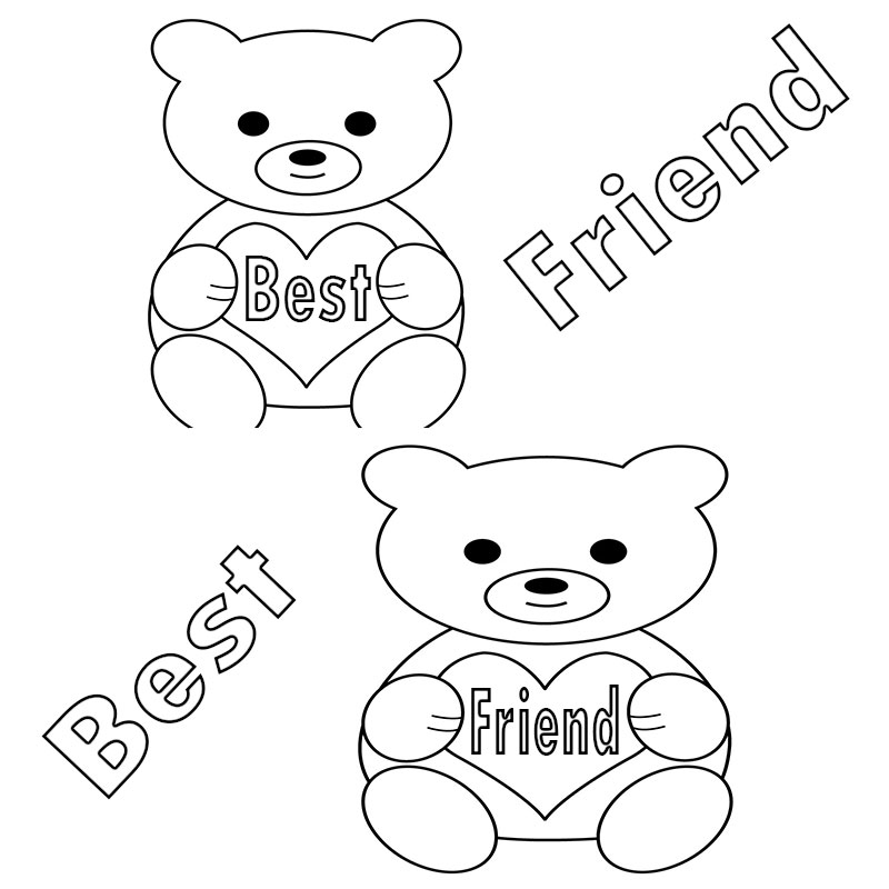 Printable Best Friend Coloring Pages Printable Best Friend ...