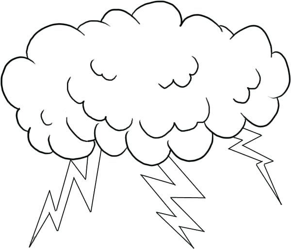 Cloud Coloring Page For Kids