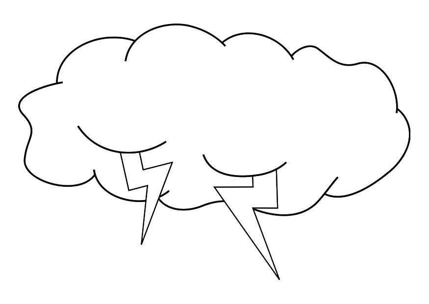 Cloud Coloring Page for Kids Cloud Coloring Page for Kids ...
