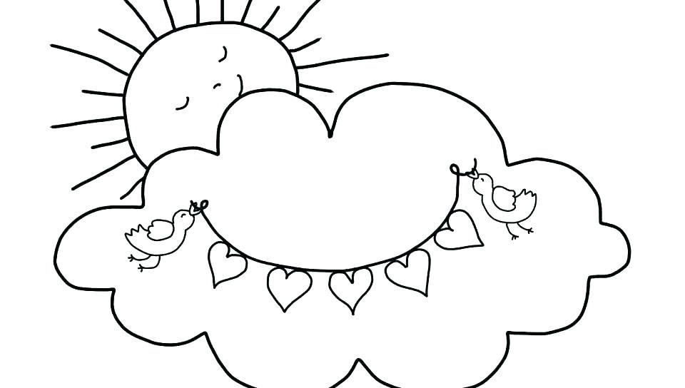 Cloud Coloring Pages