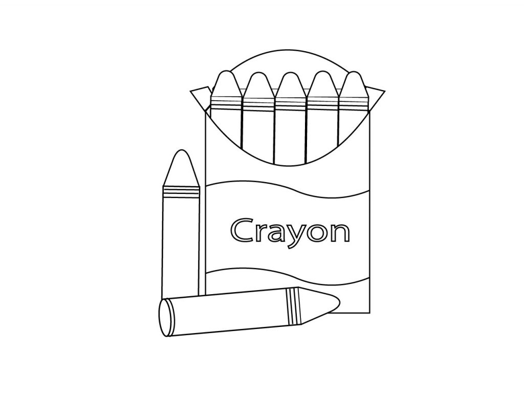 Red Crayon Coloring Pages - Bltidm