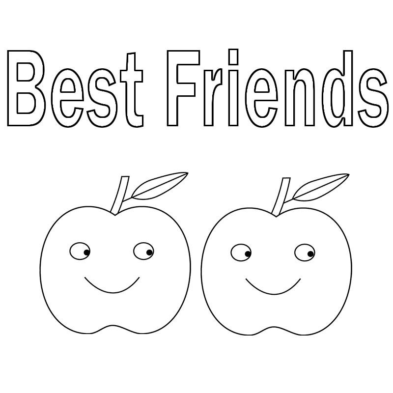 Printable Best Friend Coloring Pages Printable Best Friend ...