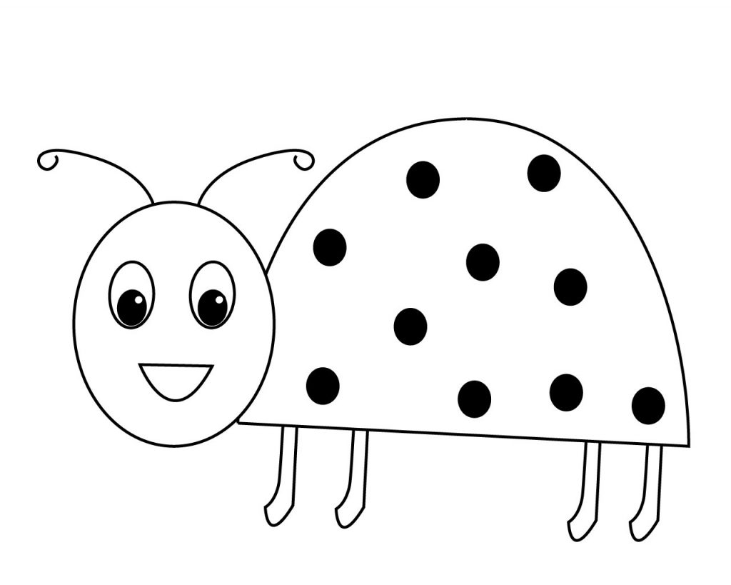 Ladybug coloring pages for preschoolers ladybug coloring for Cute ladybug coloring pages