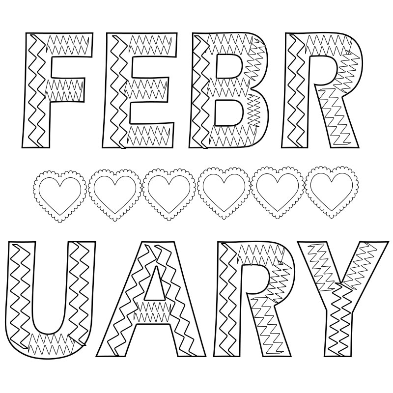 Free Printable February Coloring Pages Free Printable ...