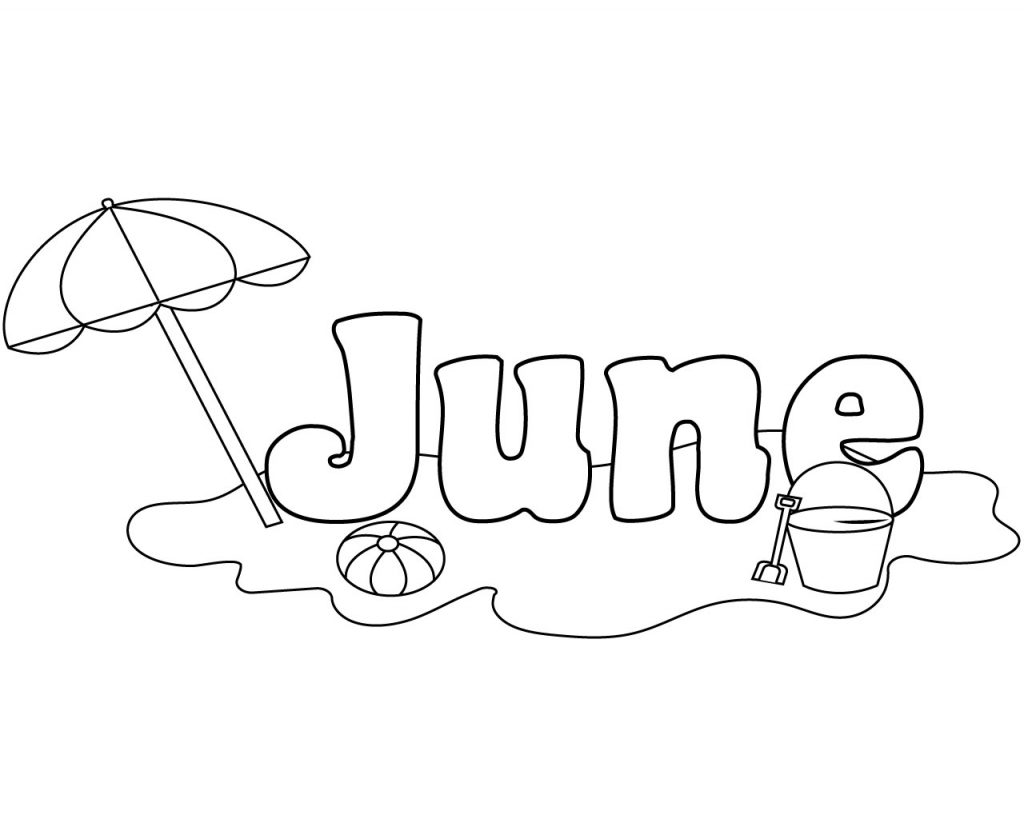 U Is For Umbrella Coloring Page Unique June Coloring P...