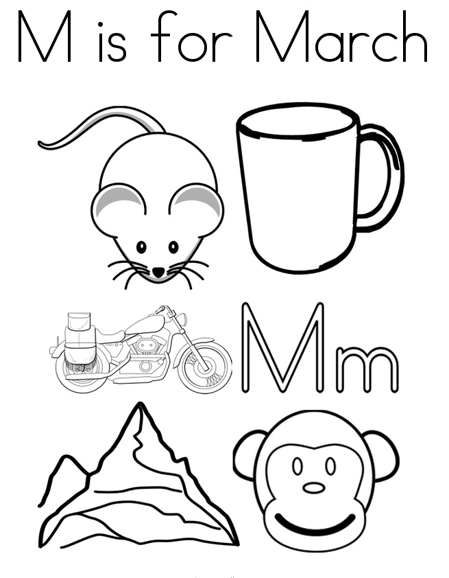 Free Printable March Coloring Pages Free Printable March