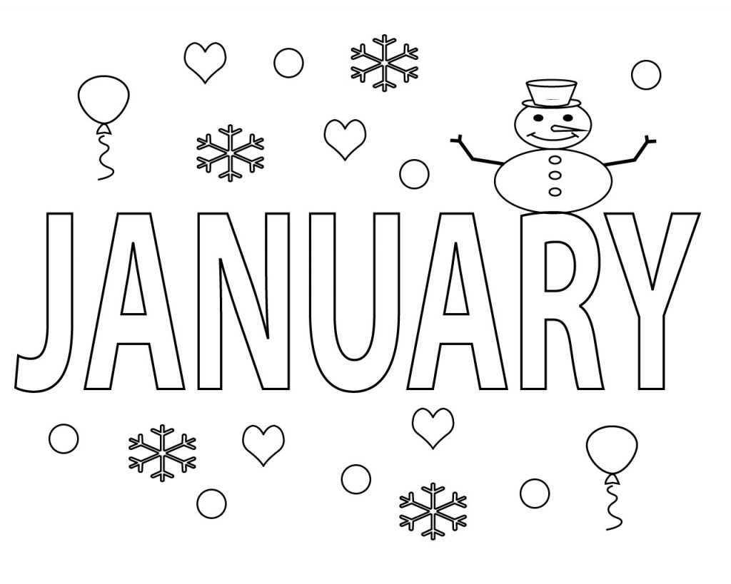January Coloring Pages preschool